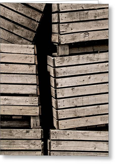 Apple Crates Greeting Cards - Stacked Greeting Card by Odd Jeppesen