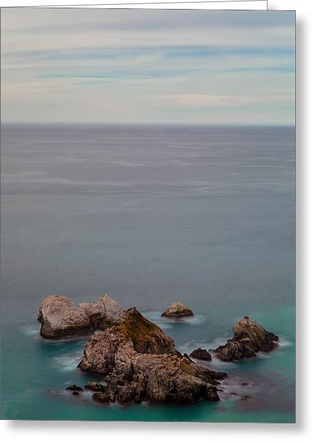 Big Sur Beach Greeting Cards - Stacked Rocks Greeting Card by Jonathan Nguyen