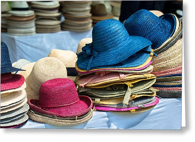 Cloth Greeting Cards - Stacks Of Hats  Greeting Card by Andreas Berthold