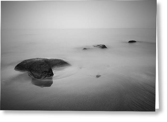 Har Greeting Cards - Staffin Bay Mist Greeting Card by Grant Glendinning
