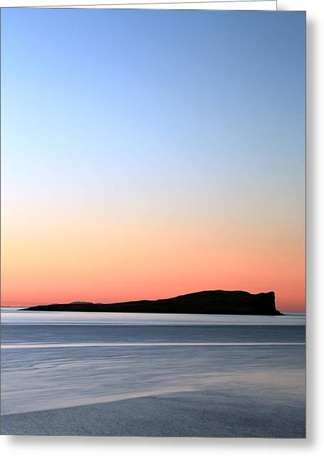 Sunset Abstract Greeting Cards - Staffin Sunset Greeting Card by Grant Glendinning