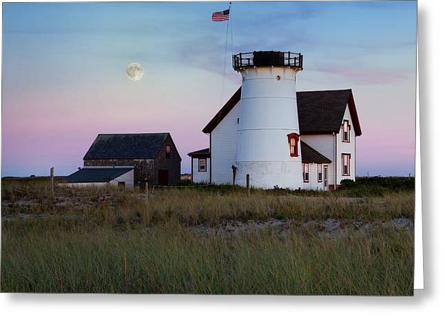 Chatham Greeting Cards - Stage Harbor light Cape Cod Greeting Card by Bill  Wakeley