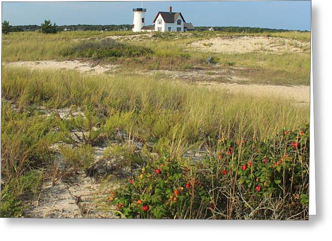 Stage Harbor Lighthouse Cape Cod Greeting Card by John Burk