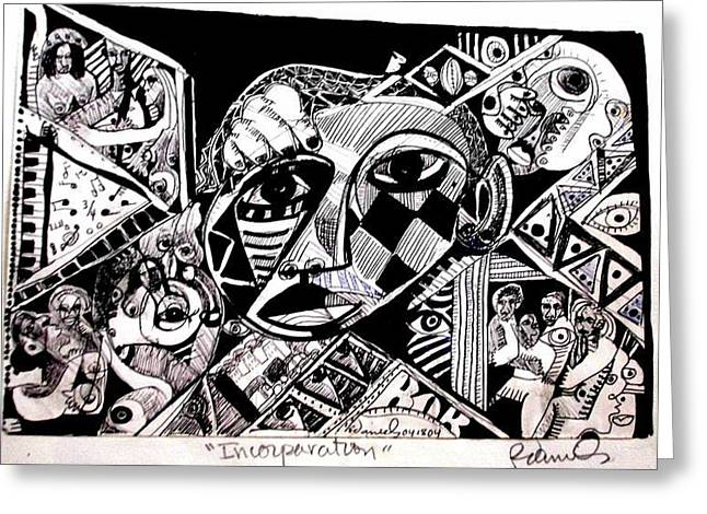 Robert Daniels Drawings Greeting Cards - Stages Of Life Greeting Card by Robert Daniels