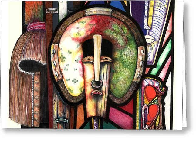 Stain Glass Greeting Card by Anthony Burks Sr
