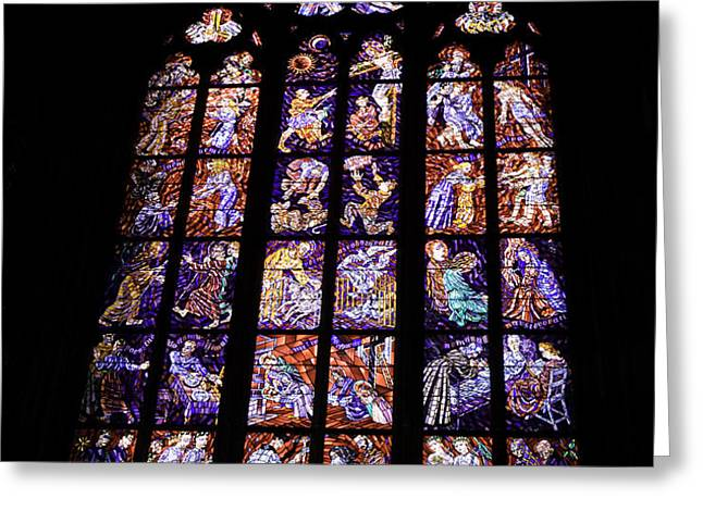 Stain Glass Window Greeting Card by Madeline Ellis