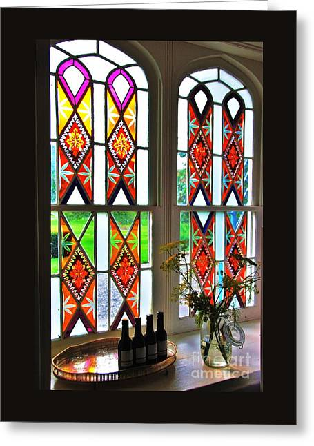 Interior Still Life Greeting Cards - Stained Glass At Killruddery # 2 Greeting Card by Poet