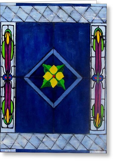 Stained Glass Greeting Card by Carol Allen Anfinsen