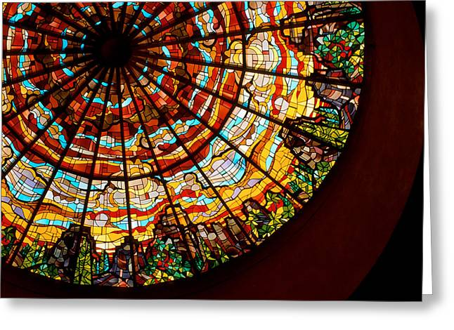 Stained Glass Ceiling Greeting Card by Jerry McElroy