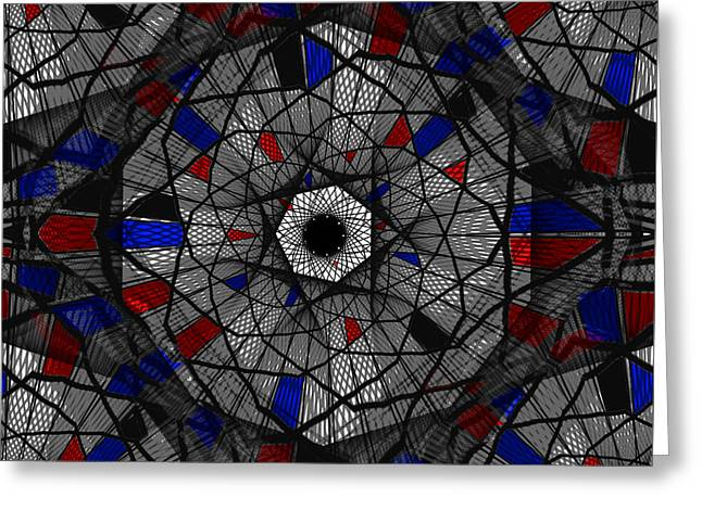 Unique Art Greeting Cards - Stained Glass Window Greeting Card by Kathleen Sartoris