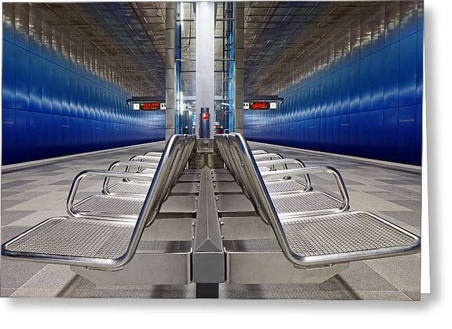 Metro Photographs Greeting Cards - Stainless Steel Greeting Card by Martin Fleckenstein
