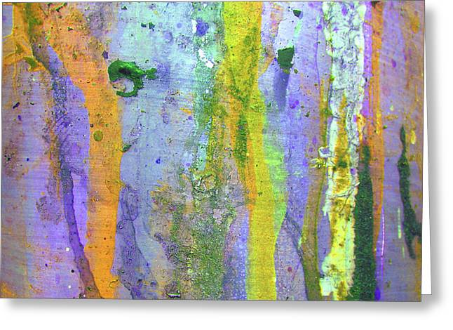 Stains of Paint Greeting Card by Carlos Caetano