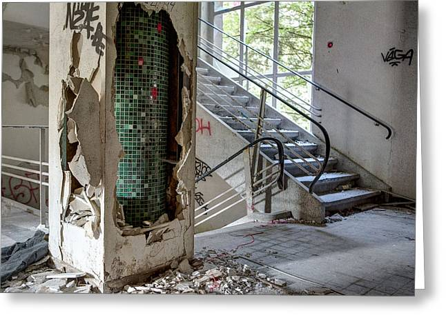Stair Case Ruin Urban Exploration Home Sweet Home  Greeting Card by Dirk Ercken
