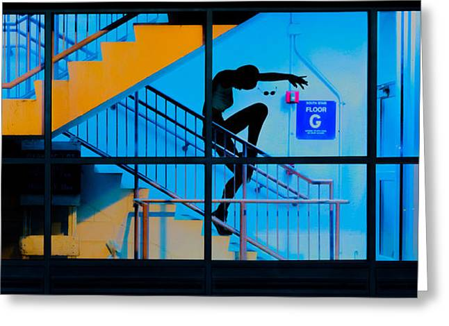Abstract Movement Greeting Cards - Stair Dancing Greeting Card by Bob Orsillo