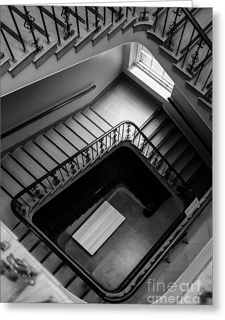 Decent Greeting Cards - Staircase Greeting Card by Edward Fielding