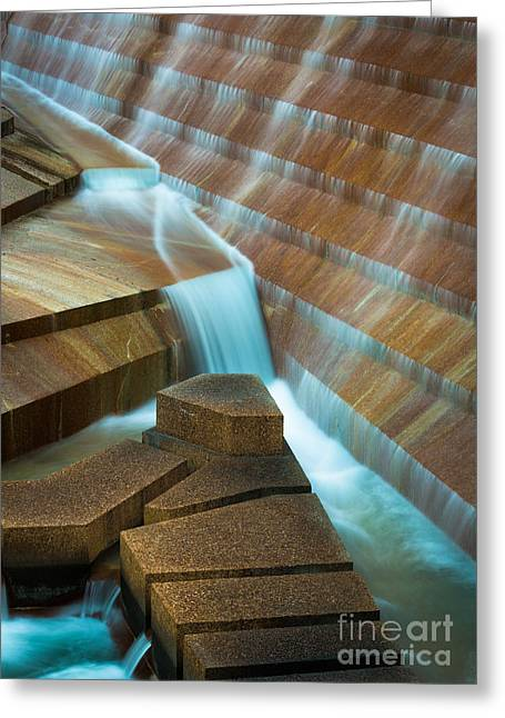 Water Garden Greeting Cards - Staircase Fountain Greeting Card by Inge Johnsson
