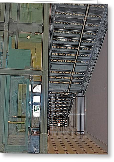 Galveston Greeting Cards - Staircase Greeting Card by Alison Mae Photography