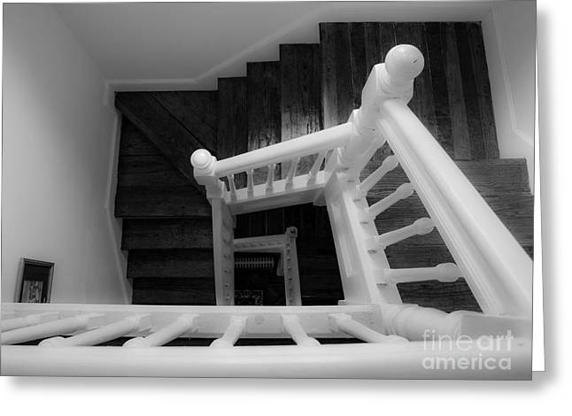 Winding Staircases Greeting Cards - Staircase Greeting Card by Valerie Morrison
