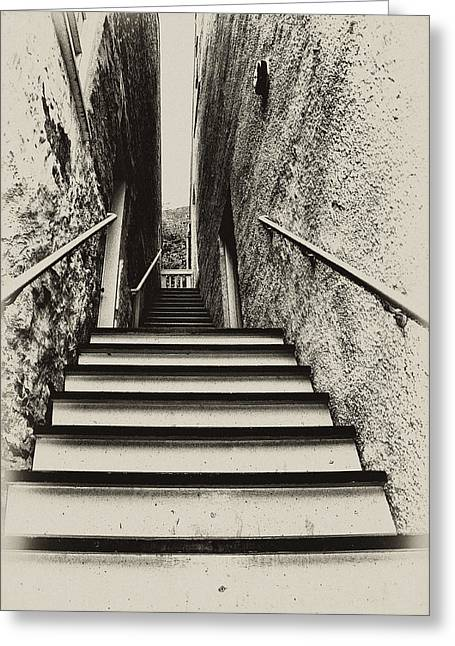 Stairs At Harpers Ferry Greeting Card by Bill Cannon