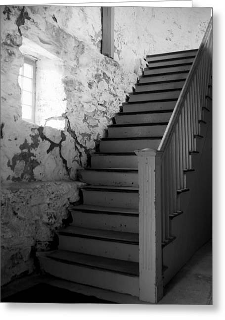 Coastal Maine Greeting Cards - Stairs Greeting Card by Bill Keiran