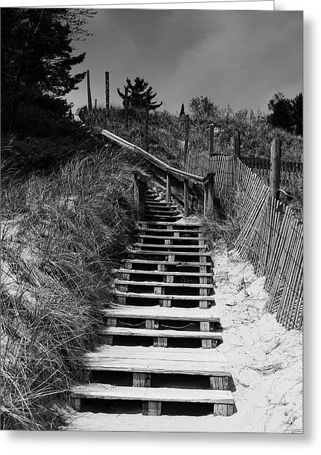 Stairs In The Dunes Greeting Card by Keith Homan