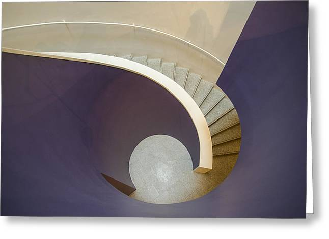 Wite Greeting Cards - Stairs Greeting Card by Maria Jose Ramos