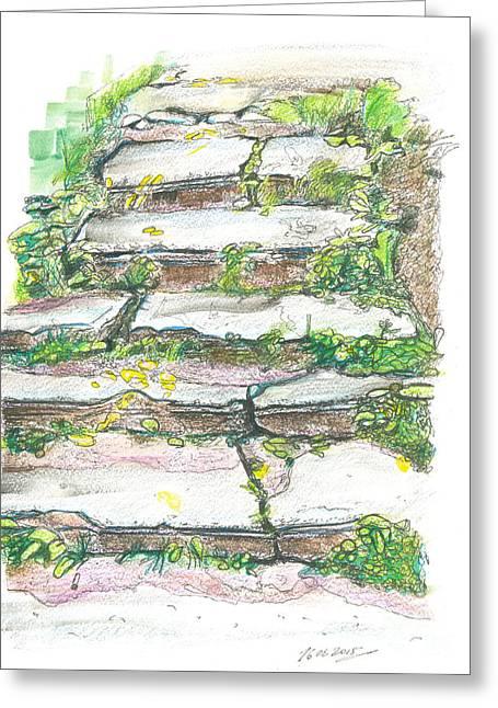 Stairs, Nizhniy Novgorod, Russia. 16 August, 2015 Greeting Card by Tatiana Chernyavskaya