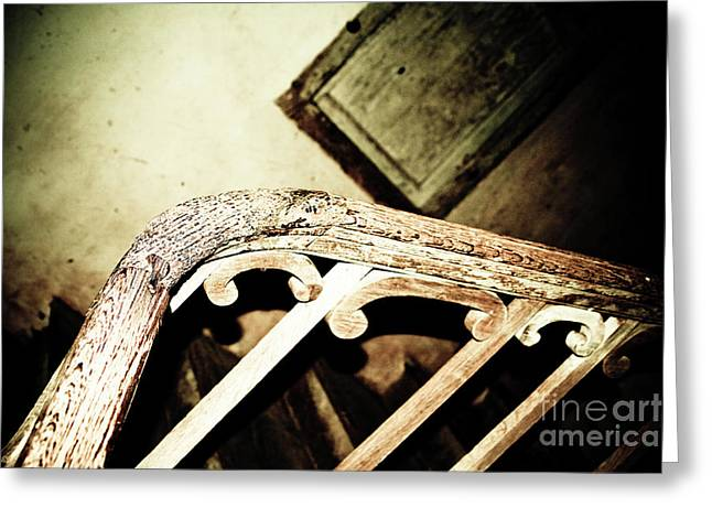 Wooden Stairs Greeting Cards - Stairs To .... Greeting Card by Kathryn Goddard