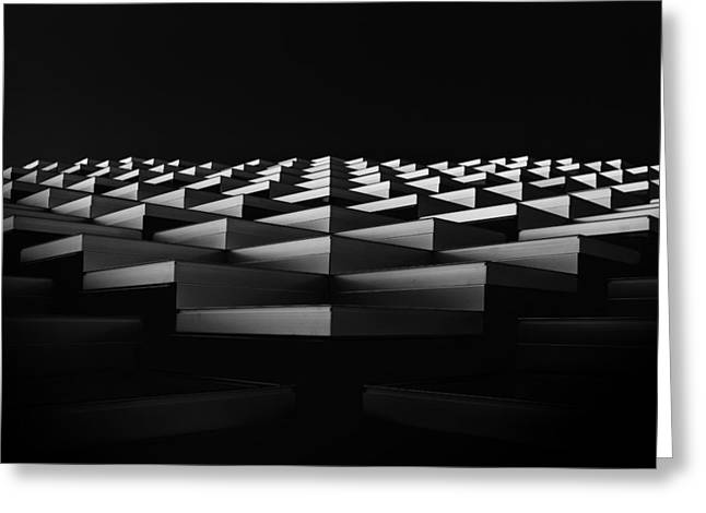 Facades Photographs Greeting Cards - Stairs To The Light. Greeting Card by Greetje Van Son