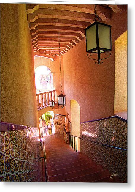 Intrigue Greeting Cards - Stairway Greeting Card by Ben and Raisa Gertsberg