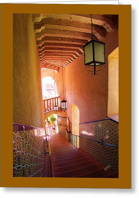 Recently Sold -  - Intrigue Greeting Cards - Stairway Greeting Card by Ben and Raisa Gertsberg