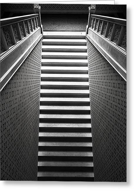 Stairways Greeting Cards - Stairway Greeting Card by Bez Dan