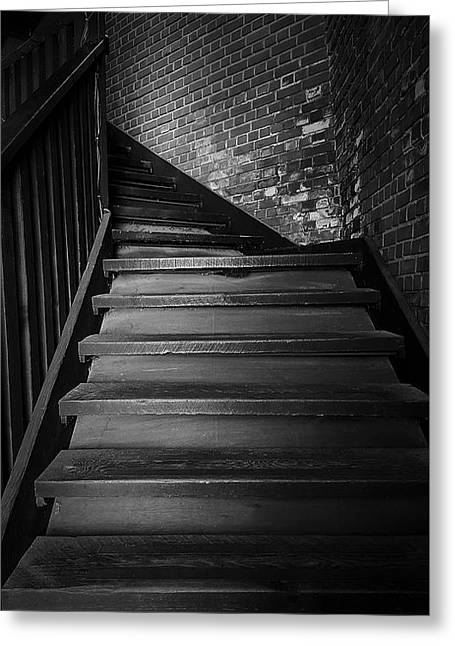 Recently Sold -  - Wooden Stairs Greeting Cards - Stairway Greeting Card by Ester  Rogers