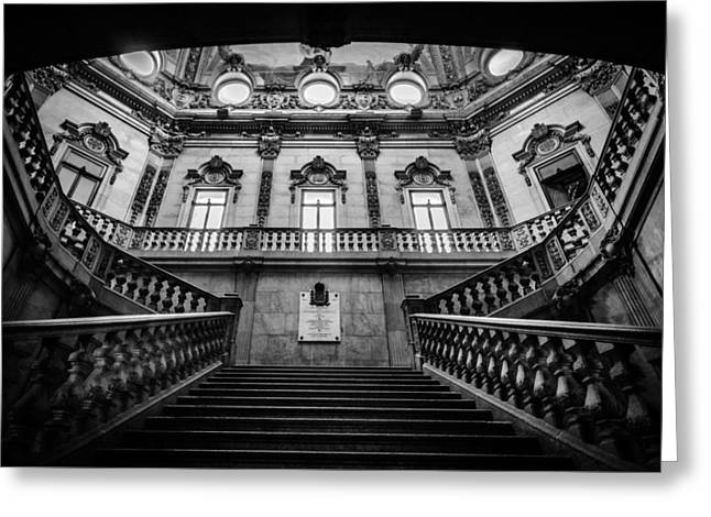 Stairway Iv Greeting Card by Marco Oliveira