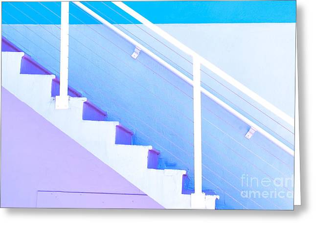 Violet Blue Greeting Cards - Stairway Greeting Card by Juli Scalzi