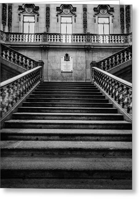 Stairway Greeting Card by Marco Oliveira