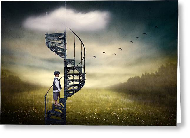 Montage Greeting Cards - Stairway To Heaven. Greeting Card by Ben Goossens