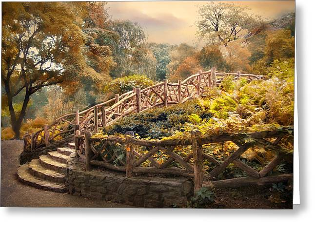 Fence Digital Art Greeting Cards - Stairway to Heaven Greeting Card by Jessica Jenney