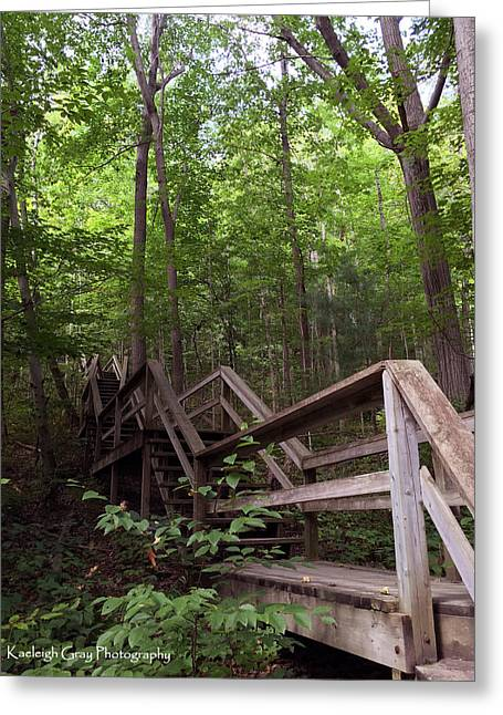 Wooden Stairs Greeting Cards - Stairway to Heaven Greeting Card by Kaeleigh Gray