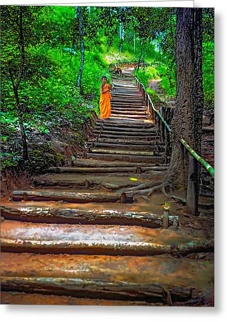 Stairway To Heaven Greeting Card by Steve Harrington