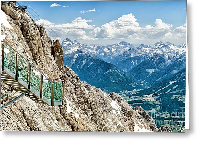 Swiss Photographs Greeting Cards - Stairway to Nothingness Greeting Card by Kamlesh Sethy