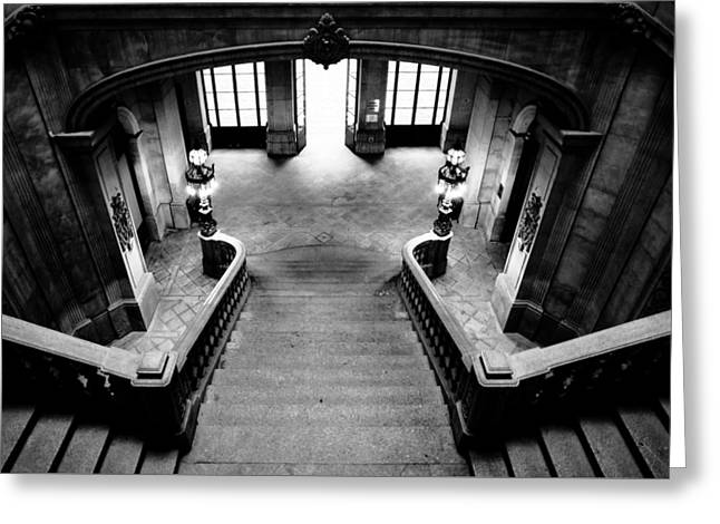 Stairway V Greeting Card by Marco Oliveira