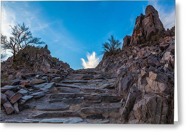 Camelback Mountain Greeting Cards - Squaw Peak Trail Greeting Card by Alex Zabo