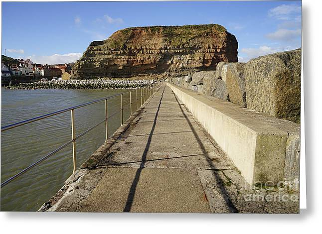 Staithes Greeting Card by Stephen Smith