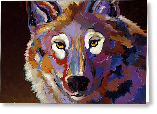 Abstracted Wildlife Art Greeting Cards - Stalk Greeting Card by Bob Coonts