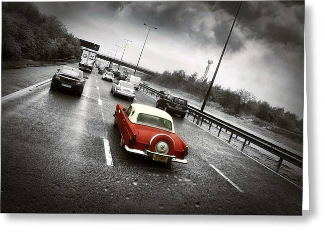 American Automobiles Greeting Cards - Stand Out from the crowd. Greeting Card by Jason Green