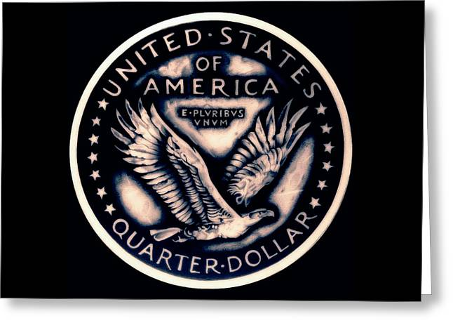 Silver Coins Greeting Cards - Standing Liberty  Reverse Greeting Card by Fred Larucci
