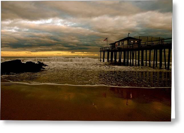 Ocean Grove Greeting Cards - Standing on Stilts. Greeting Card by Joe  Burns