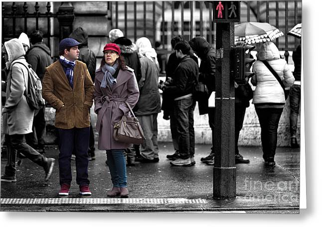 Fashion Photos For Sale Greeting Cards - Standing Out in Paris Greeting Card by John Rizzuto
