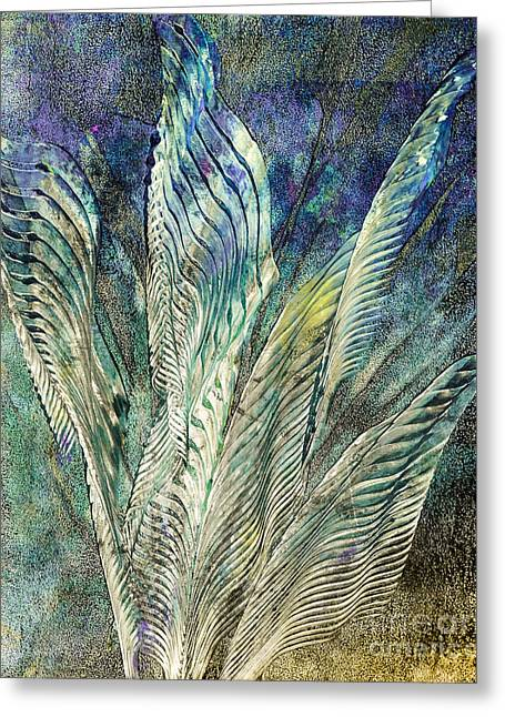 Blue Abstracts Greeting Cards - Standing Proud Greeting Card by Laura L Leatherwood